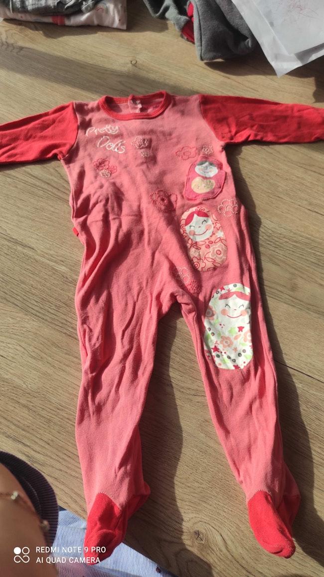 Pyjama rouge pretty dolls 24 mois