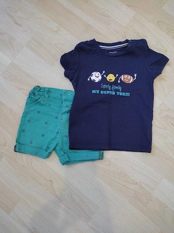 Ensemble garçon short + tee shirt 2 ans in extenso