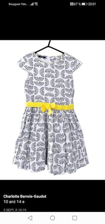 10 ans fille robe avzc ceinture okaidi