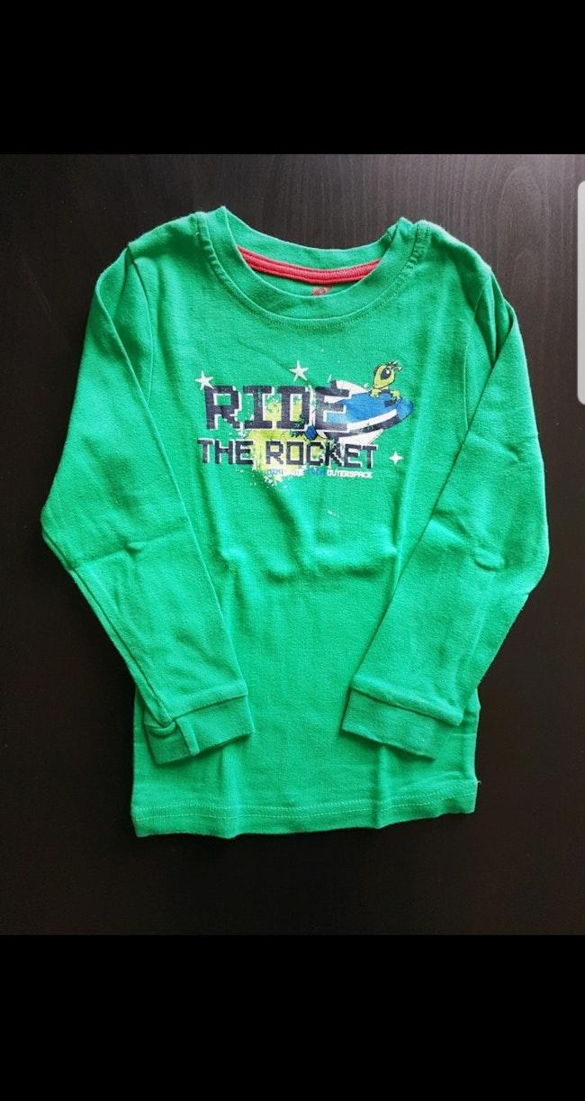Tee-shirt de pyjama ML enfant garçon 2-4 ans
