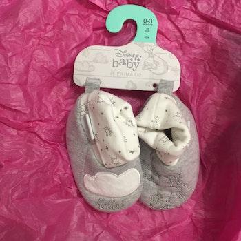 Chaussons 0-3 mois bébé dumbo primark