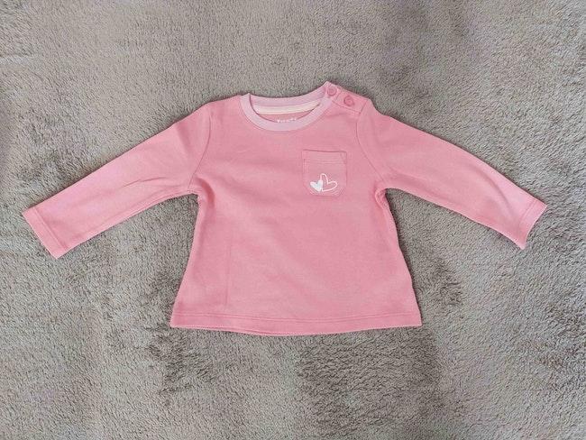 Tee-shirt manches longues rose saumoné 6 mois Lupilu