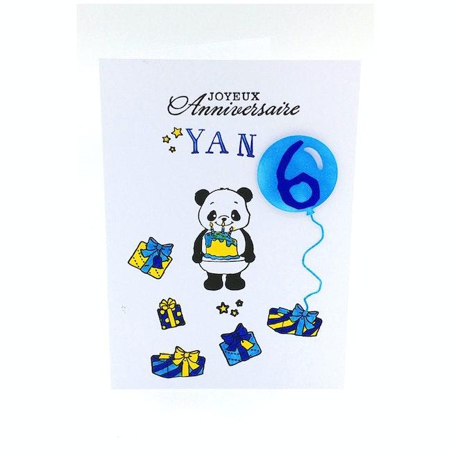 Carte anniversaire enfant faite main