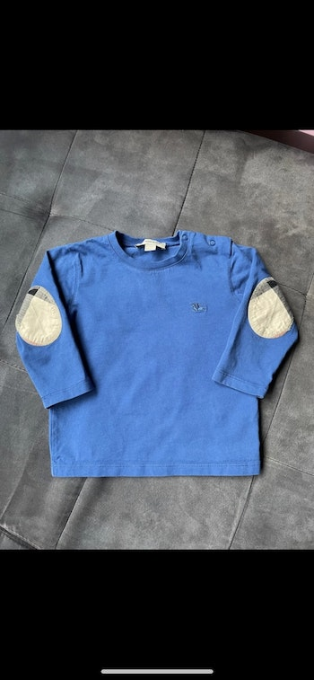 tee shirt manche longue Burberry taille 18 mois