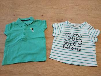 Polo et tee shirt 3 mois
