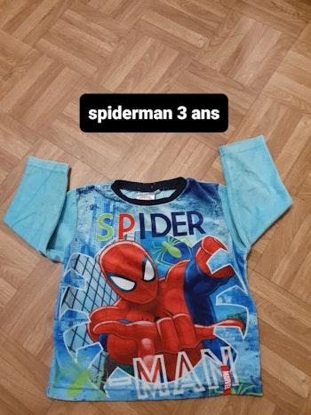 Haut de pyjama spiderman 3 ans