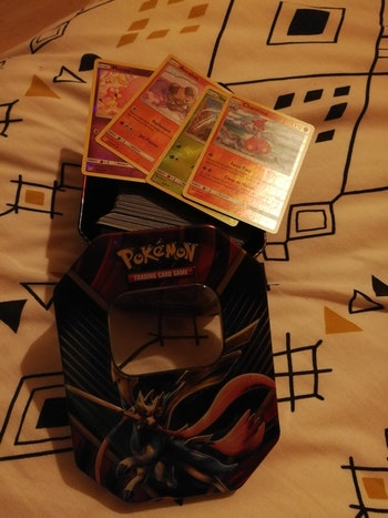 Lot 250 cartes pokemon françaises comme neuves + boîte pokemon