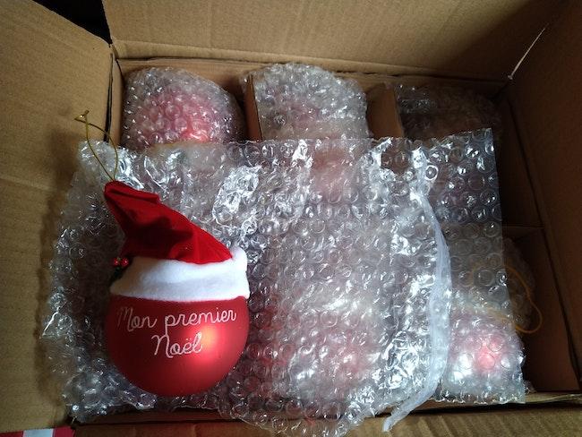Lot de 5 boules mon premier Noël
