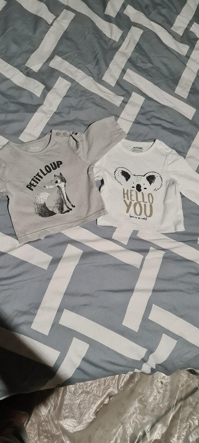 Lots Tee shirts 1 mois