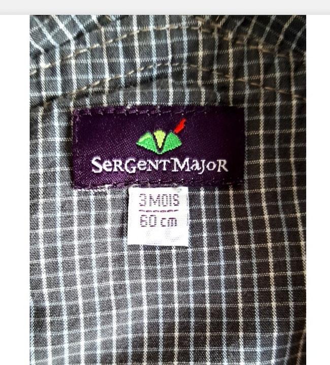 Salopette 3 mois Sergent Major