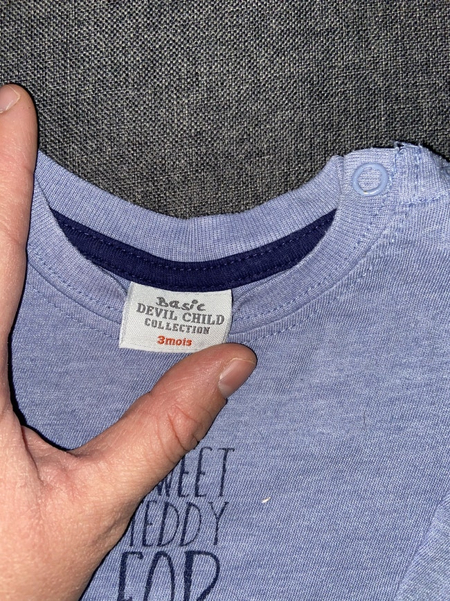 T shirt manches longues bébé 3 mois