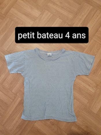 Tee-shirt MC petit bateau 4 ans