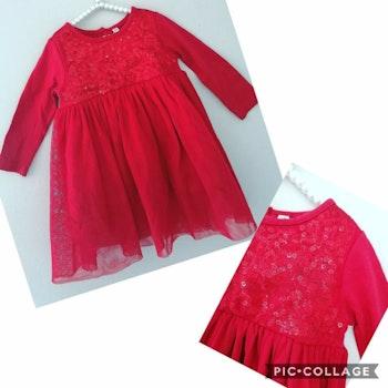12 mois bébé fille robe rouge fête