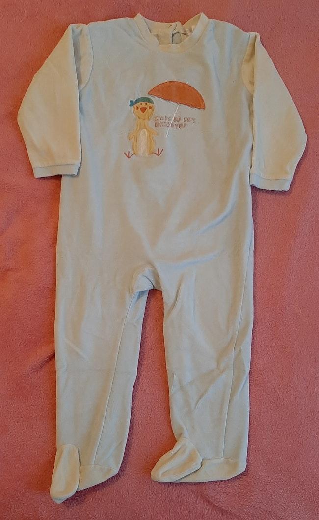 Pyjama bleu beige