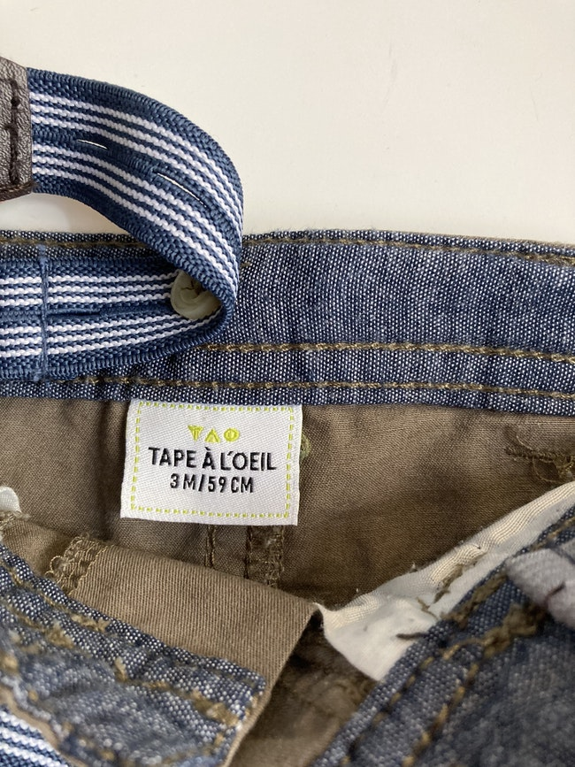 Pantalon avec bretelles Tape à l'œil