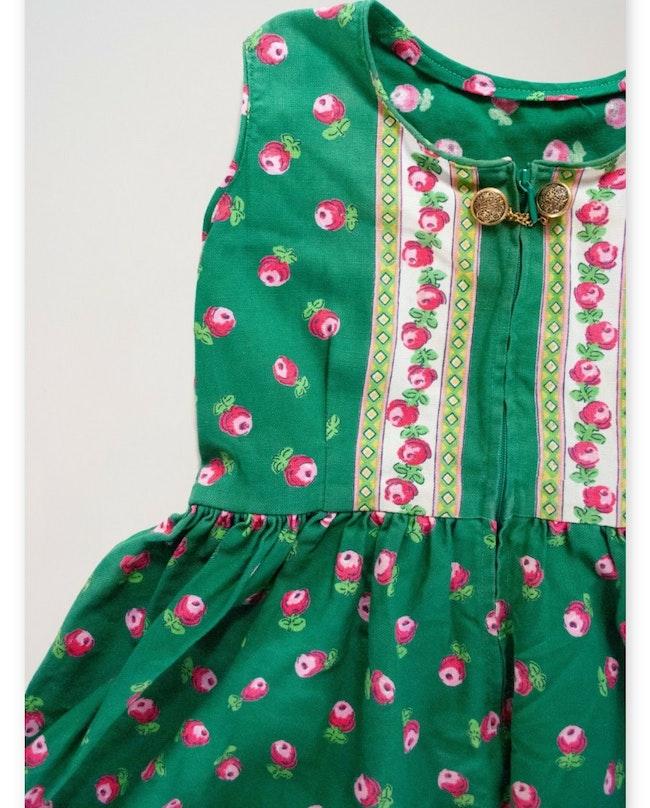 Robe boutons de rose / 4 ans