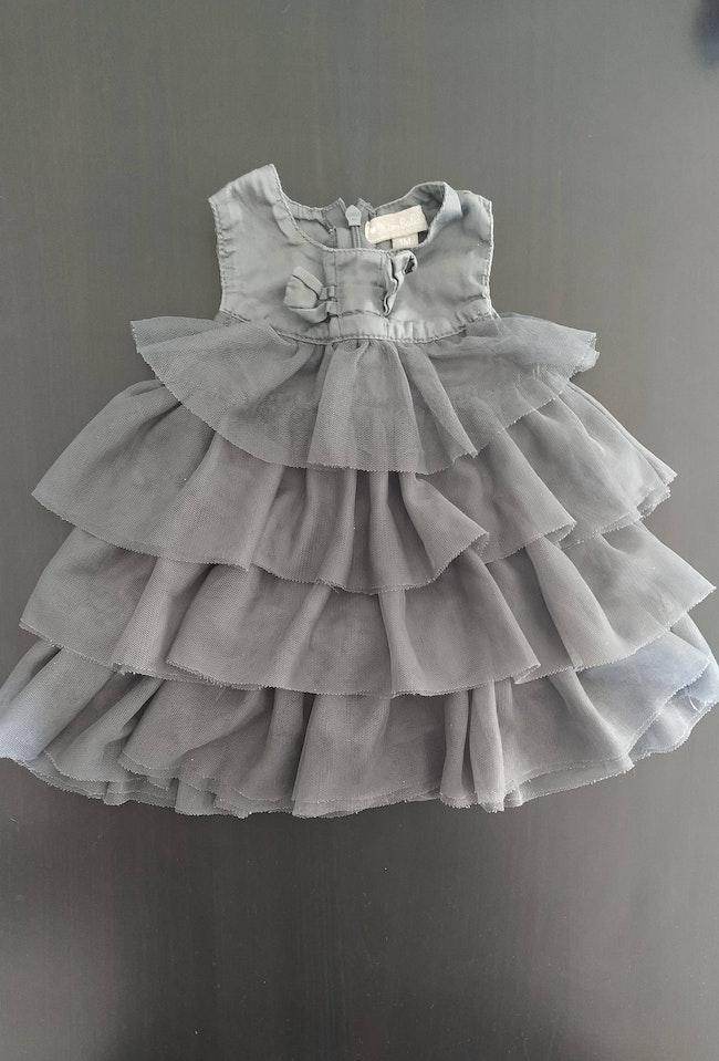 Ensemble robe+collant+bottines taille 1 mois