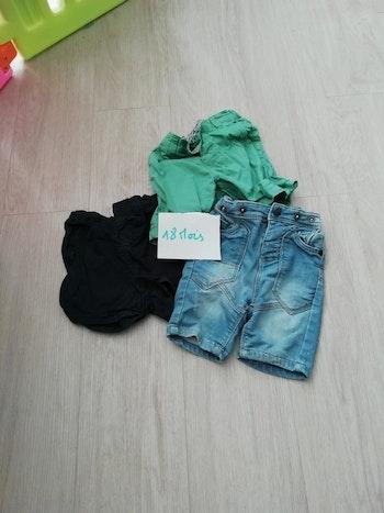 Lot 1 de 3 shorts taille 18 mois