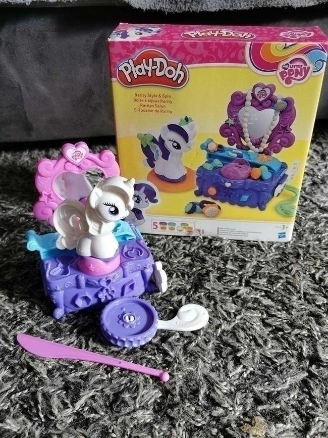Boîte à bijoux rarity play doh my little pony
