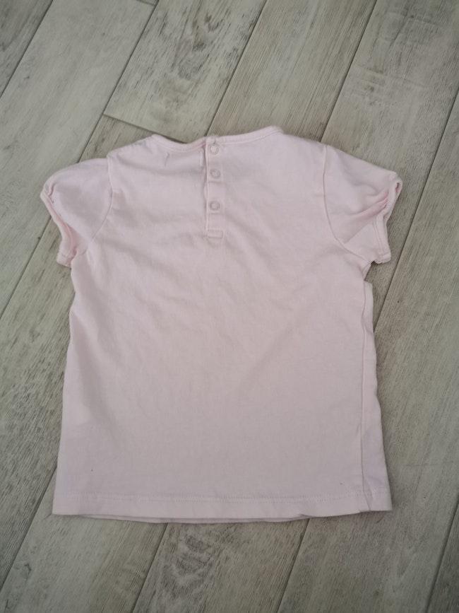 T shirt manches courtes mes petits cailloux 23 mois rose pâle