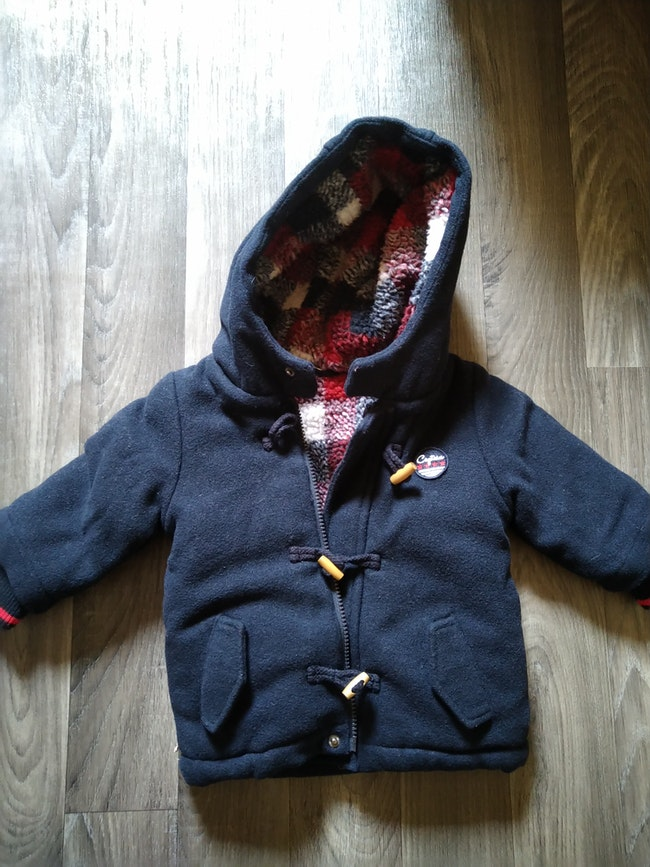 Manteau style duffle coat 12 mois