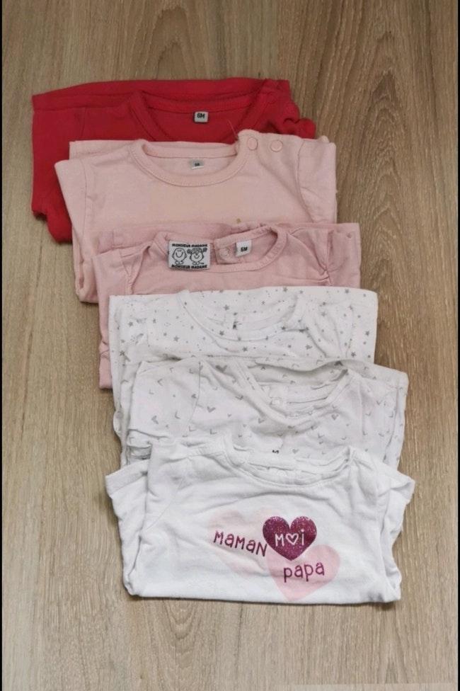Lot 6 t shirts manche longue