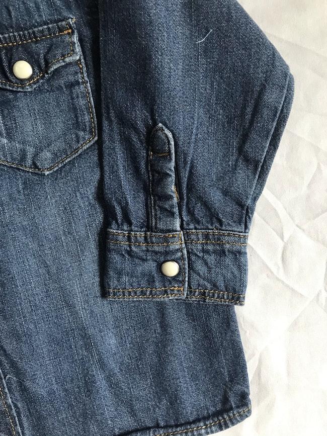 Chemise en jean manches longues - taille 9 mois