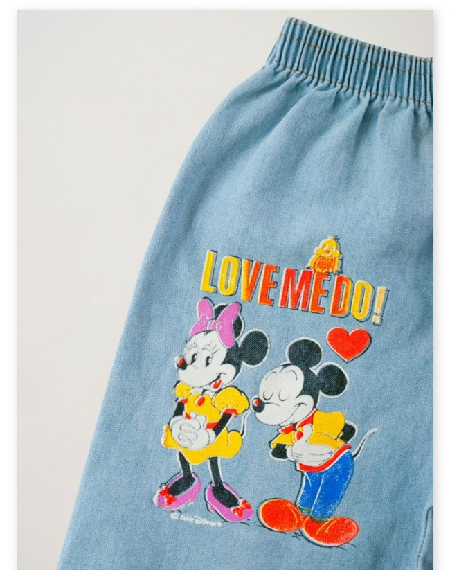 Bermuda Mickey et Minnie fluo / 8 ans