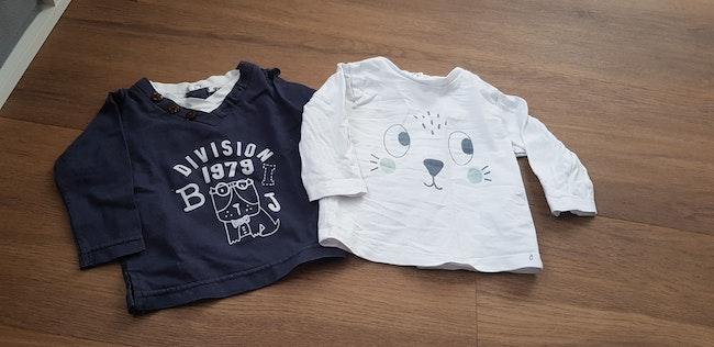 Lot de 2 tee-shirts manches longues