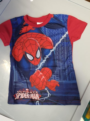 Tee-shirt spiderman rouge 3 ans