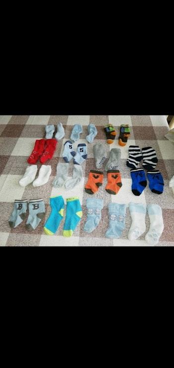 Lot 15 paires de chaussettes 0/6 mois