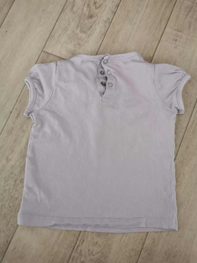 T shirt manches courtes mes petits cailloux 23 mois lila