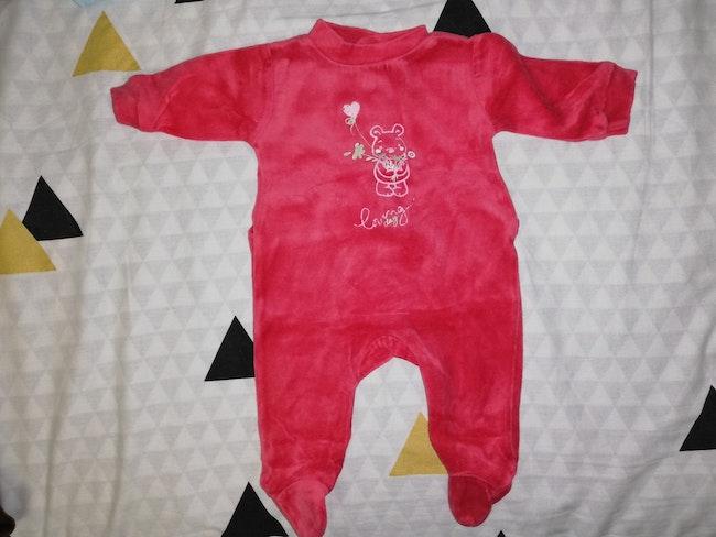 Pyjama mixte rouge naissance