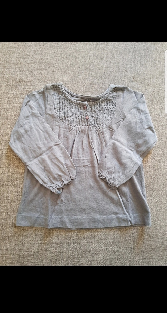 Tee-shirt manches longues fille 24 mois