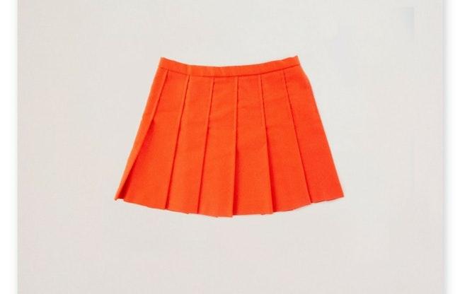 Jupe plissée orange / 6 ans