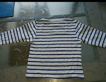 Tee shirt marin  manche longue