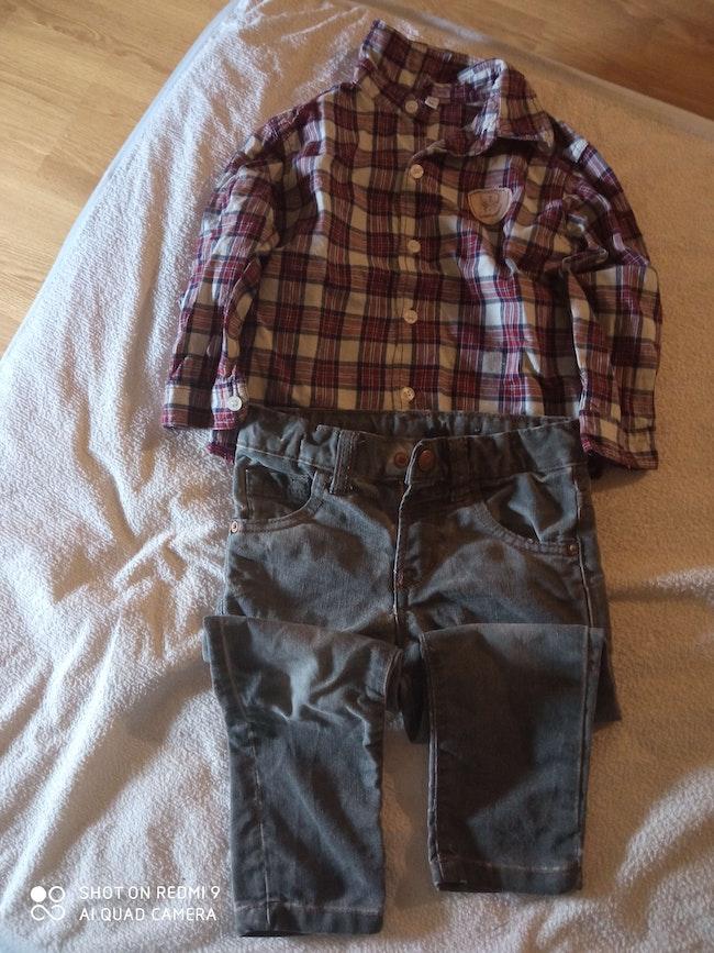 Lot pantalon et chemise