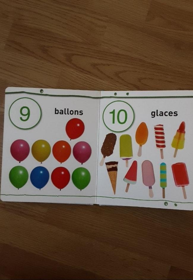 Livre cartonné neuf sur l'apprentissage des chiffres
