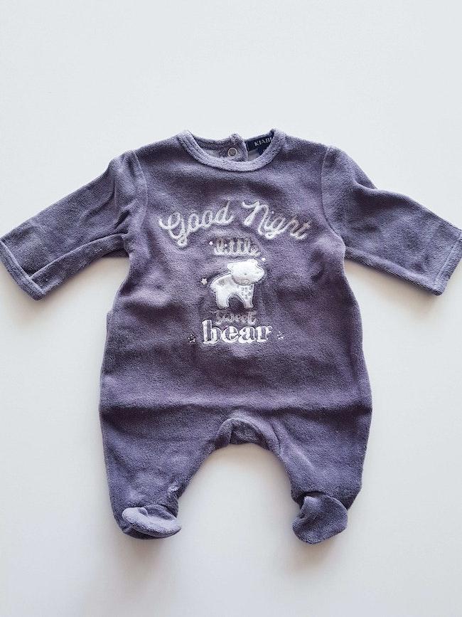 Kiabi - Grenouillère / pyjama une pièce / dors bien en velours