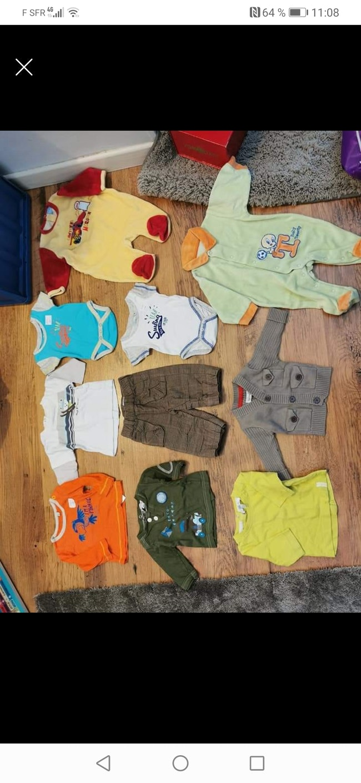 Lot vêtements naissance 1 mois Tom tailor