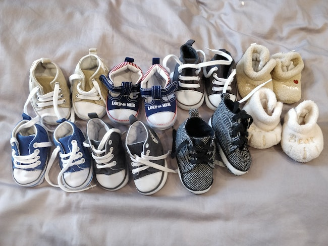 Lot 8 paires chaussures chaussons souples kapa 6 mois