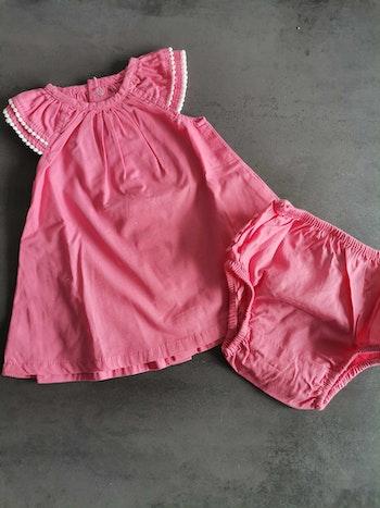 Robe rose + culotte