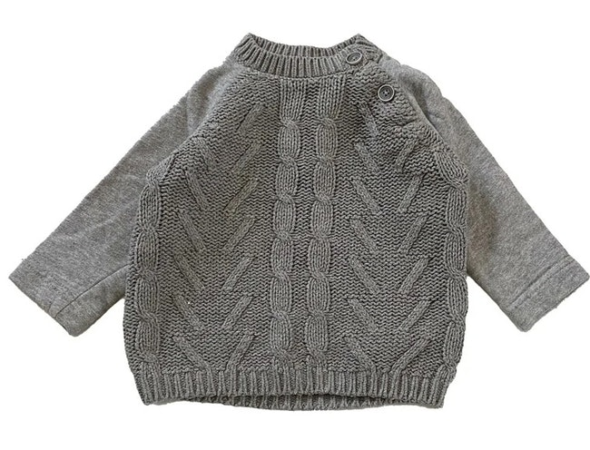 Pull gris 9 mois