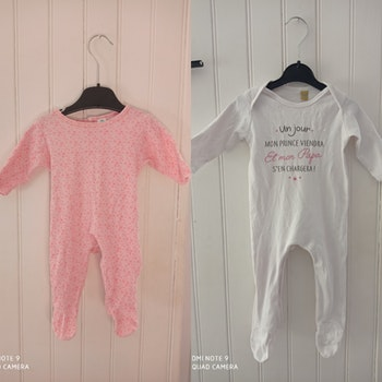 Lot de 2 pyjamas taille 3 mois