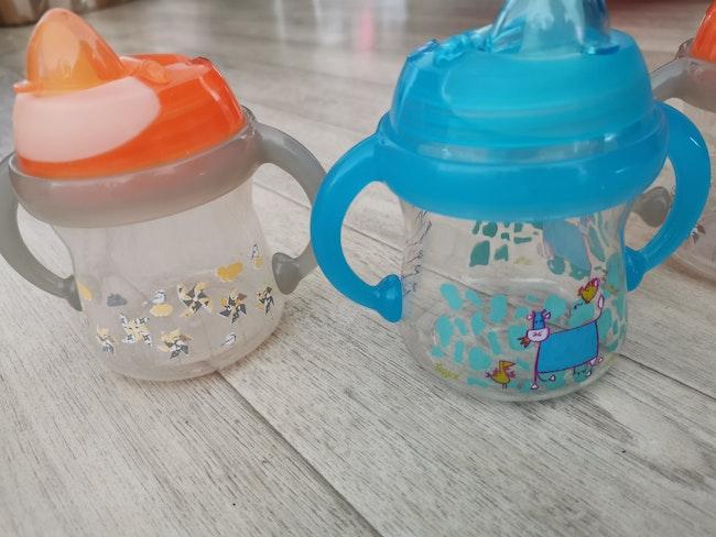 Lot de 3 tasses Tigex Anti-fuite Bec Souple 180ml