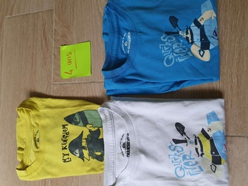 Lot de 3 tee-shirts MC 4 ans