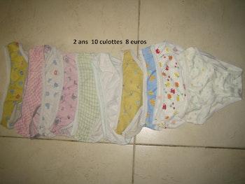 Lot culottes filles 2 ans neuves