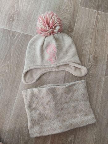 Bonnet tour de cou reine des neiges