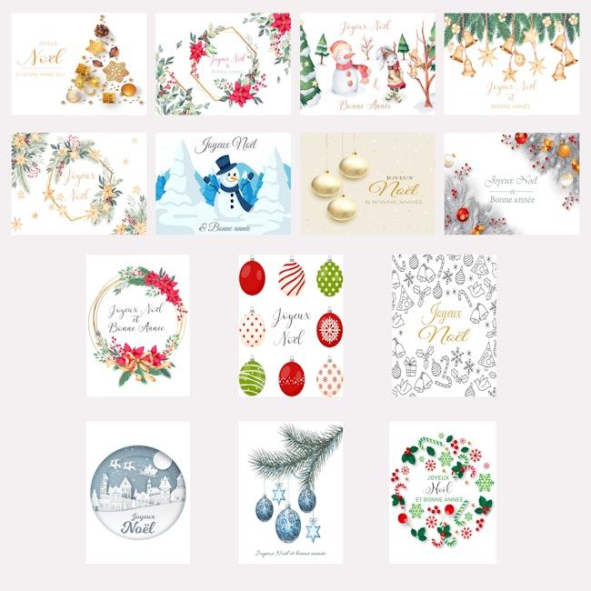 Lot cartes de Noël et nouvel an
