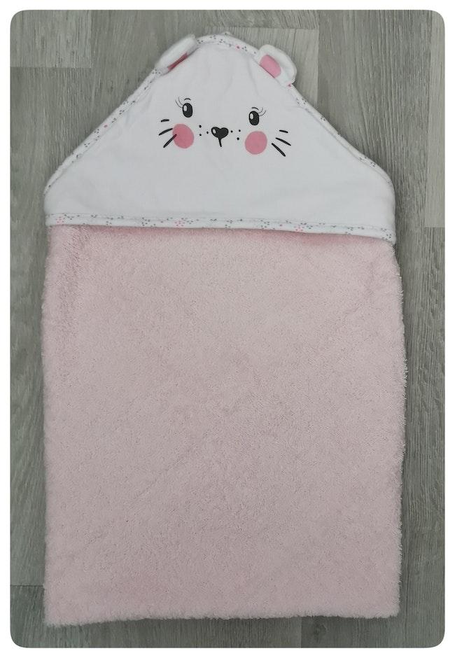 Cape de bain Tête de chat